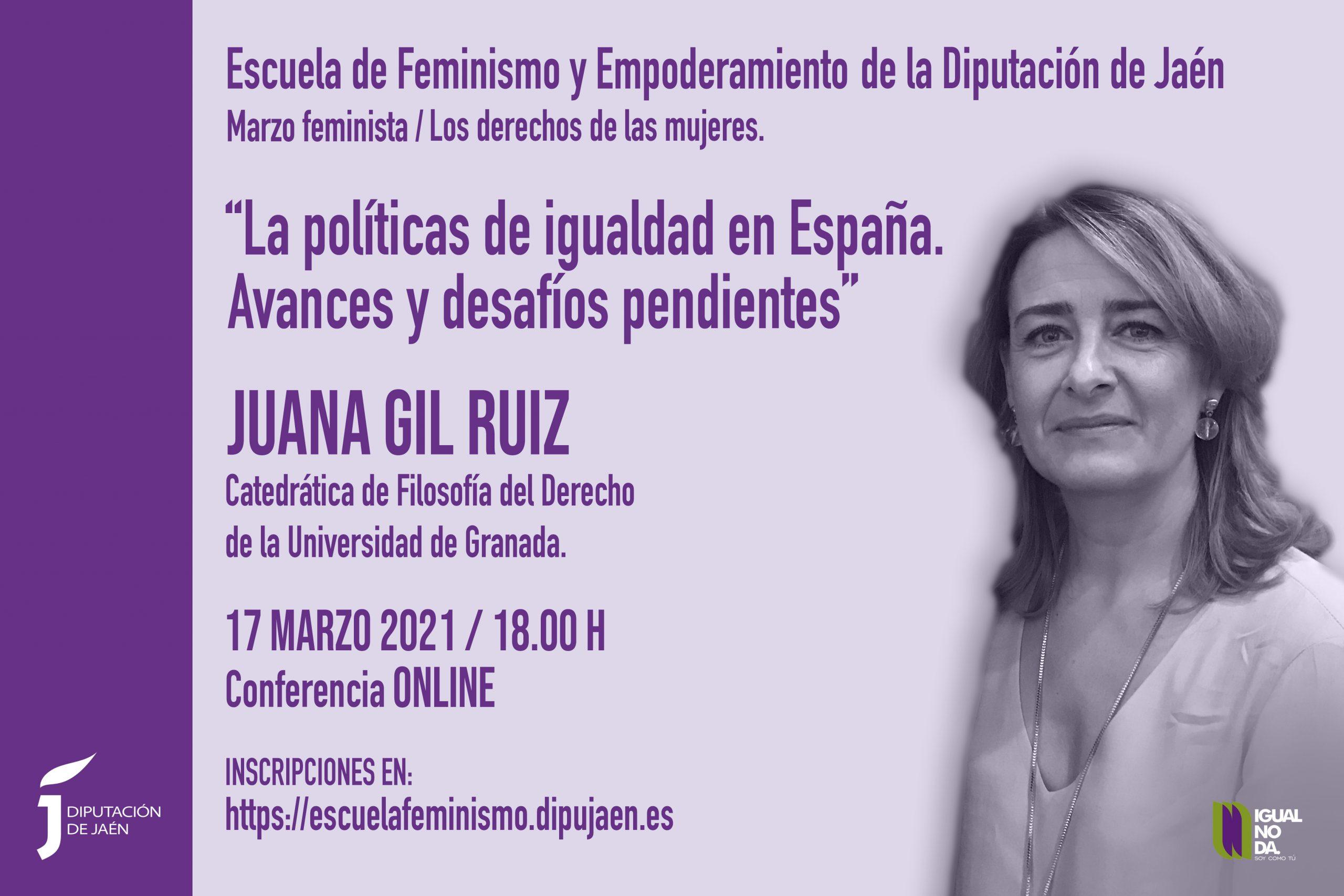 Cartel Primera Conferencia 12 meses igualdad